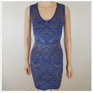 🎂 BCBGmaxazaria Blue bodycon dress XS